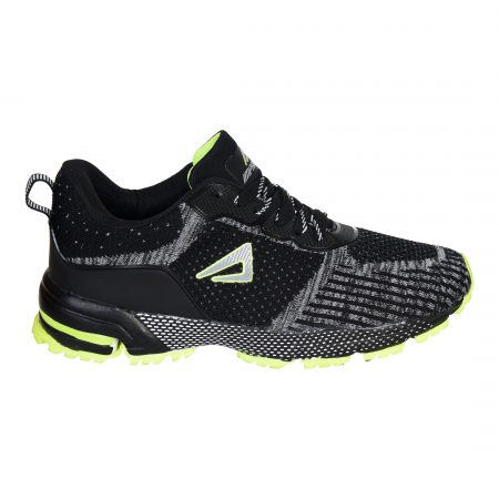 Black And Neon Green Shoes For Men Online - Impakto