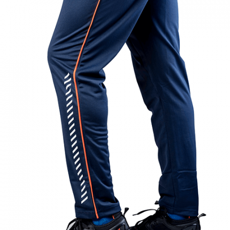 Men's Blue & Orange Dry Fit Running Joggers Online - Impakto