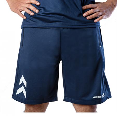 Men's Blue & White Dry Fit Running Shorts Online - Impakto