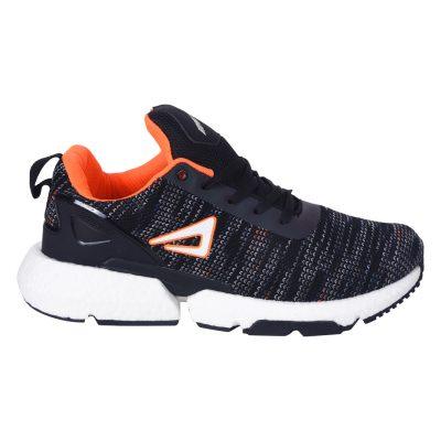 Black & Orange Running Shoes for Men - Impakto